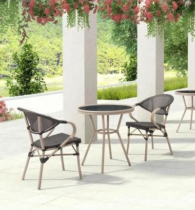 Marseilles Dining Chair Dark Brown Holiday Home Patio Dining