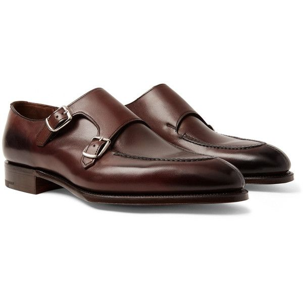 Edward Green Fulham Leather Monk-Strap Shoes discount wiki sale limited edition discount visa payment looking for cheap factory outlet 97VWFW