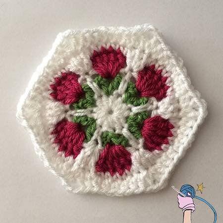 Make This Crochet Flower Garden Hexagon By Dearest Debi Patterns