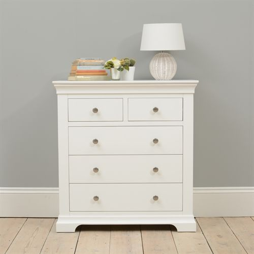 Best Chantilly White 2 3 Drawer Chest P464 With Free Delivery 640 x 480