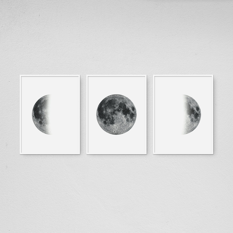 moon phases poster minimalist moon art