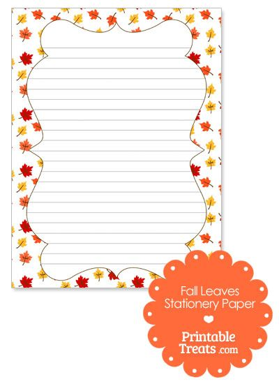 fall leaves stationery paper from printabletreats com fall