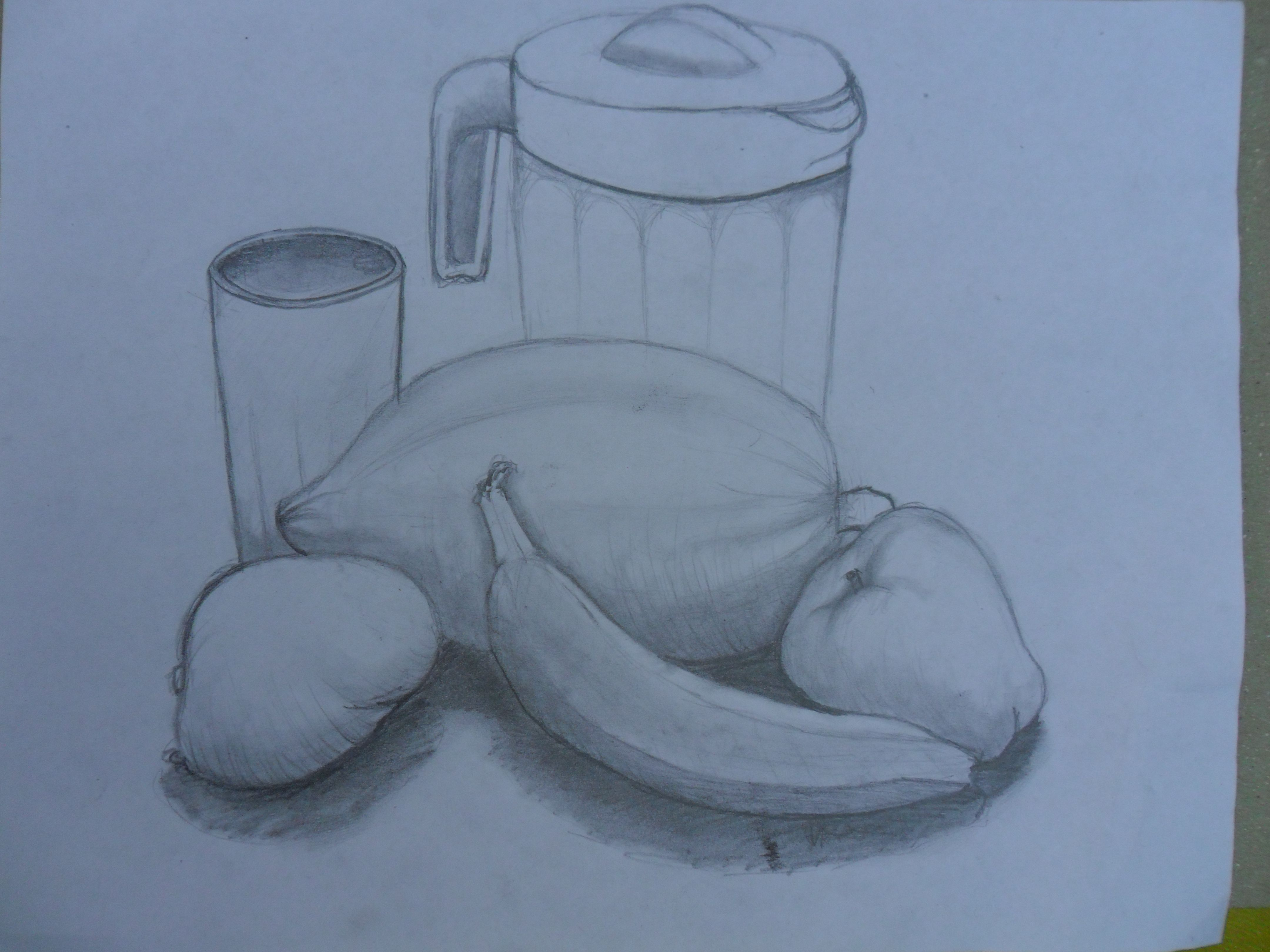 el ultimo de mis dibujos es un sencillo bodegn o naturaleza