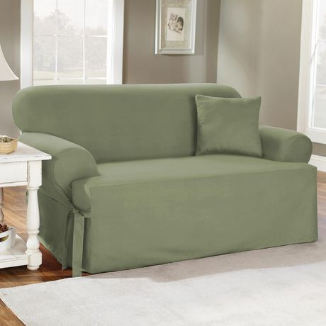 Sure Fit Cotton Duck Sofa Slipcover Walmart Canada In 2020 Cushions On Sofa Slipcovered Sofa Loveseat Slipcovers