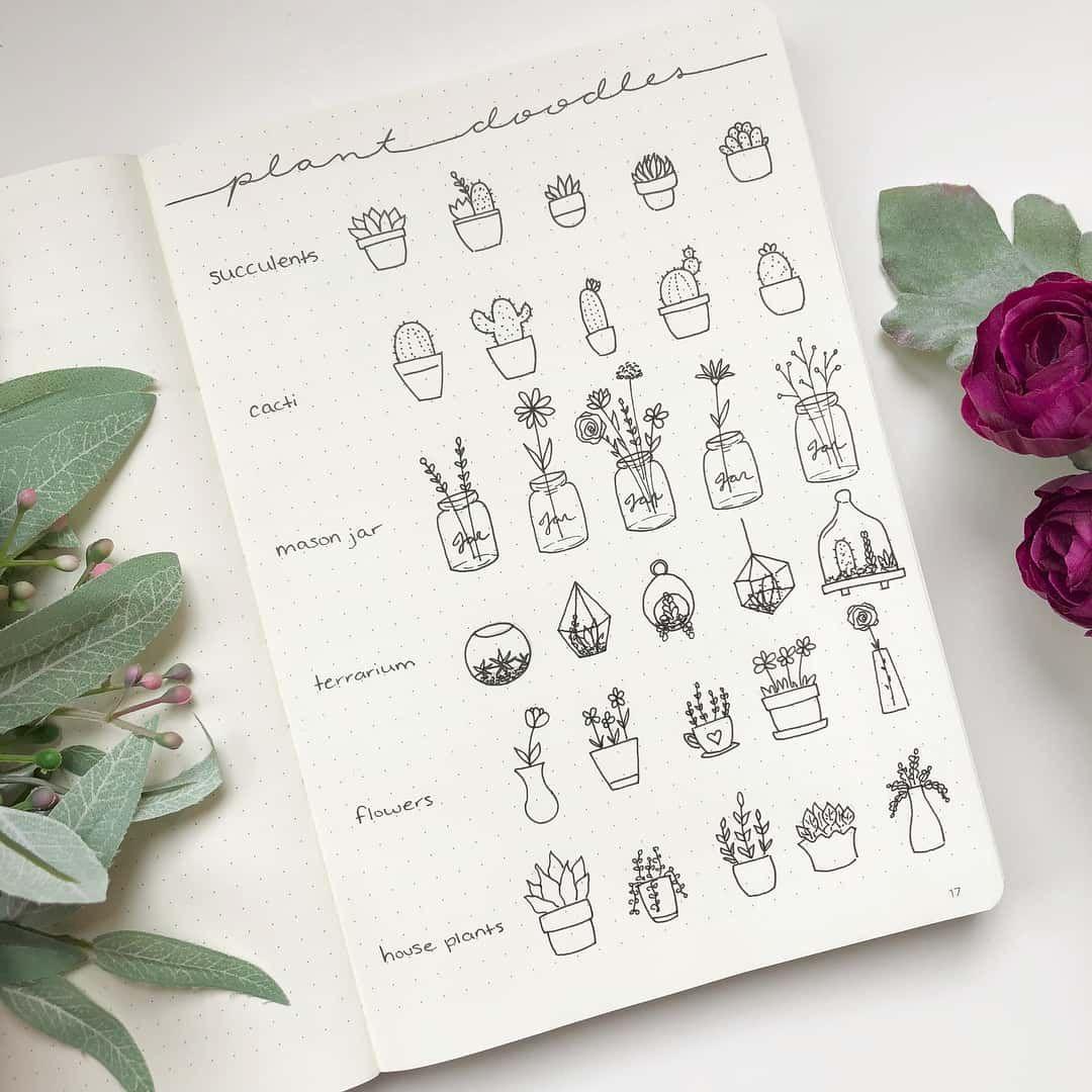 100+ Incredible Cactus Bullet Journal Layouts | My Inner Creative