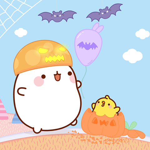 Epingle Par Nine Borriello Sur Molang Molang Halloween Et Kawaii