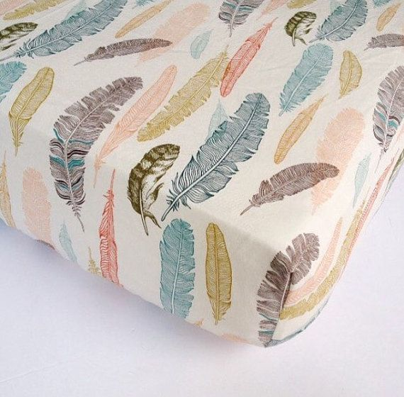 Feather Baby Bedding Plume Fitted Crib Sheets By