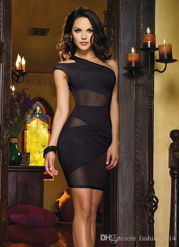 d7ef60132ef Nueva Moda Negro del vendaje de Bodycon del club del vestido para las  mujeres vestidos de partido atractivo de la noche de la celebridad del  desgaste del ...