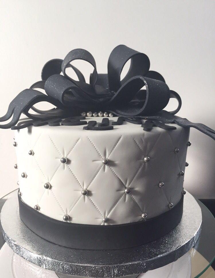 gâteau matelassé noir argent blanc | oh my cake! | pinterest