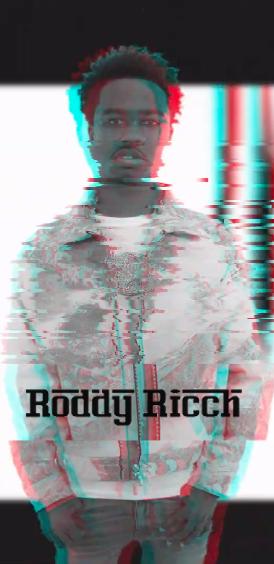 Roddy Ricch Custom Glitch Art Wallpaper Roddyricch Compton
