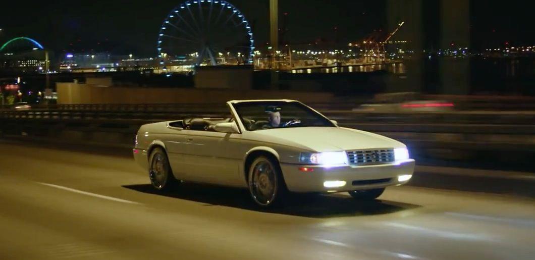 Cadillac Eldorado (1992) car driven by Macklemore in WHITE WALLS by