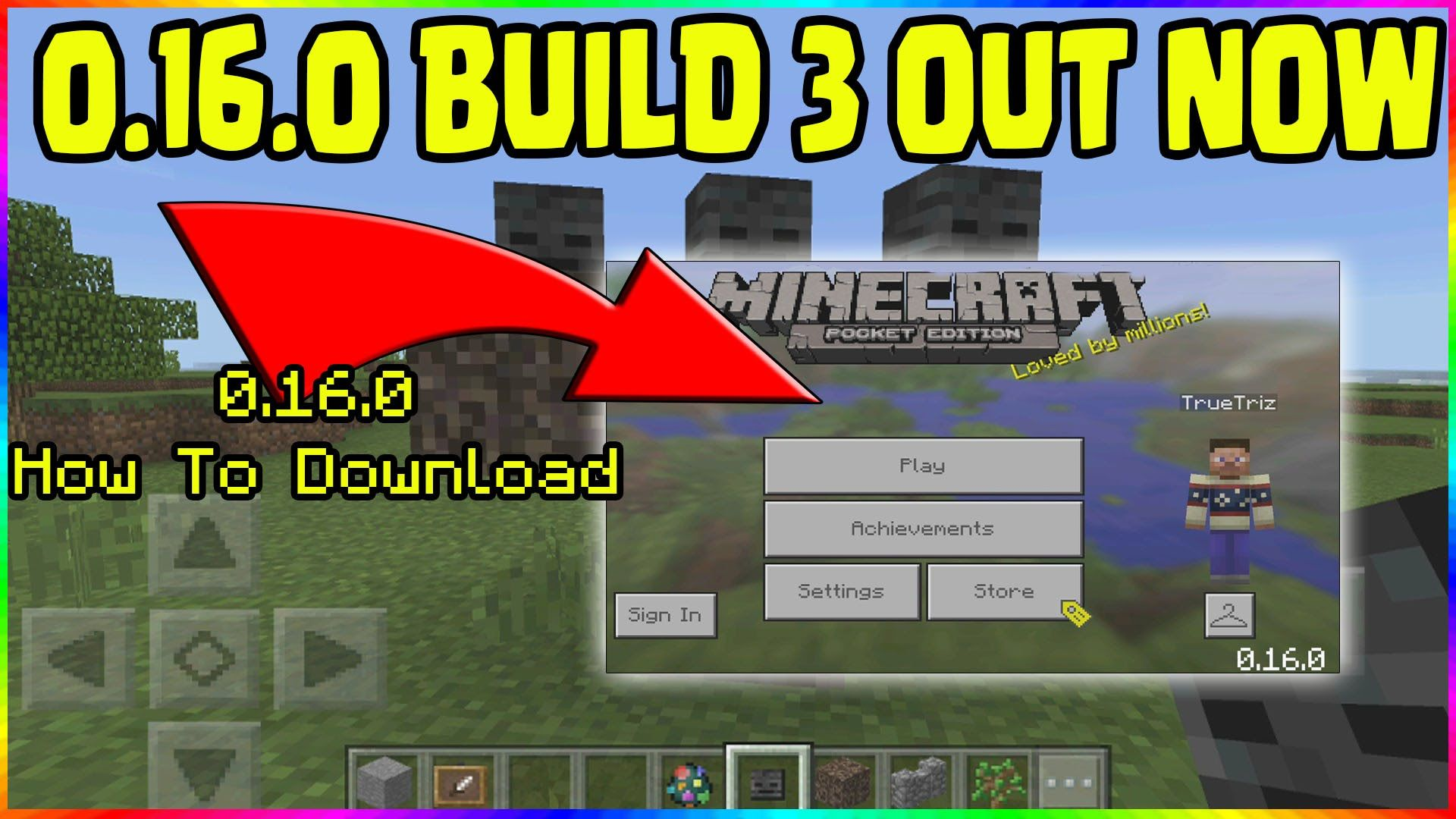 MINECRAFT PE 0.16.0 BETA BUILD 3 UPDATE OUT NOW! // HOW TO