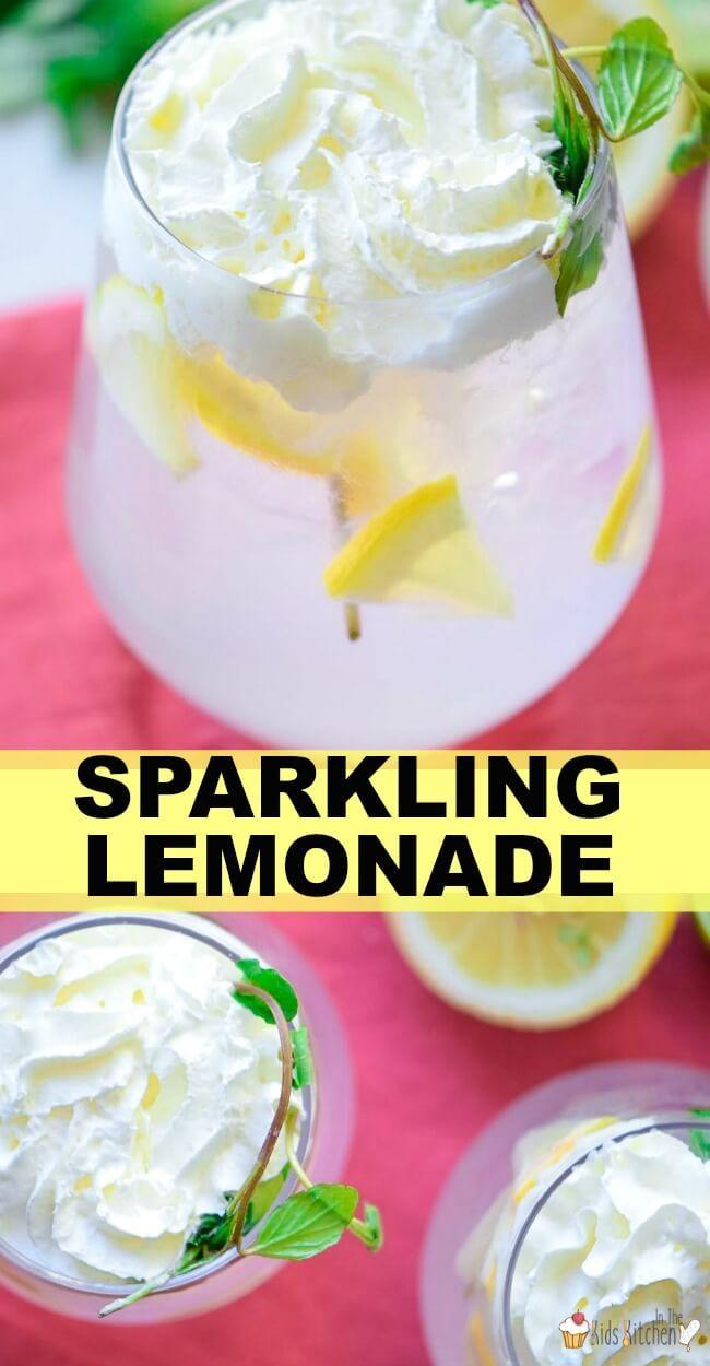 Homemade Sparkling Lemonade - Just Like Italian Restaurants Make!
