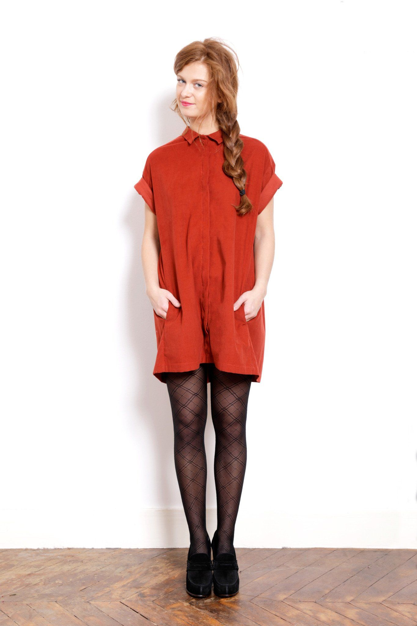 Robe rouge soiree hiver