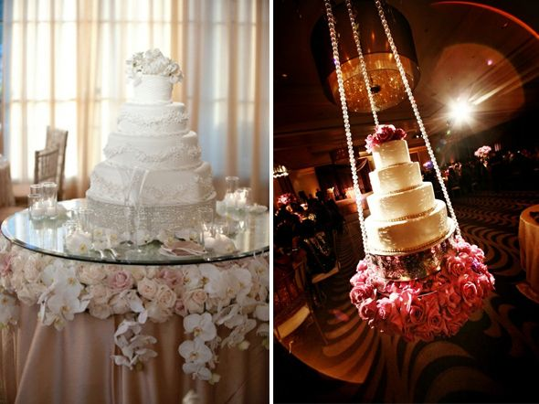 Cake Table With Flowers Under Glass Shower Your Cake