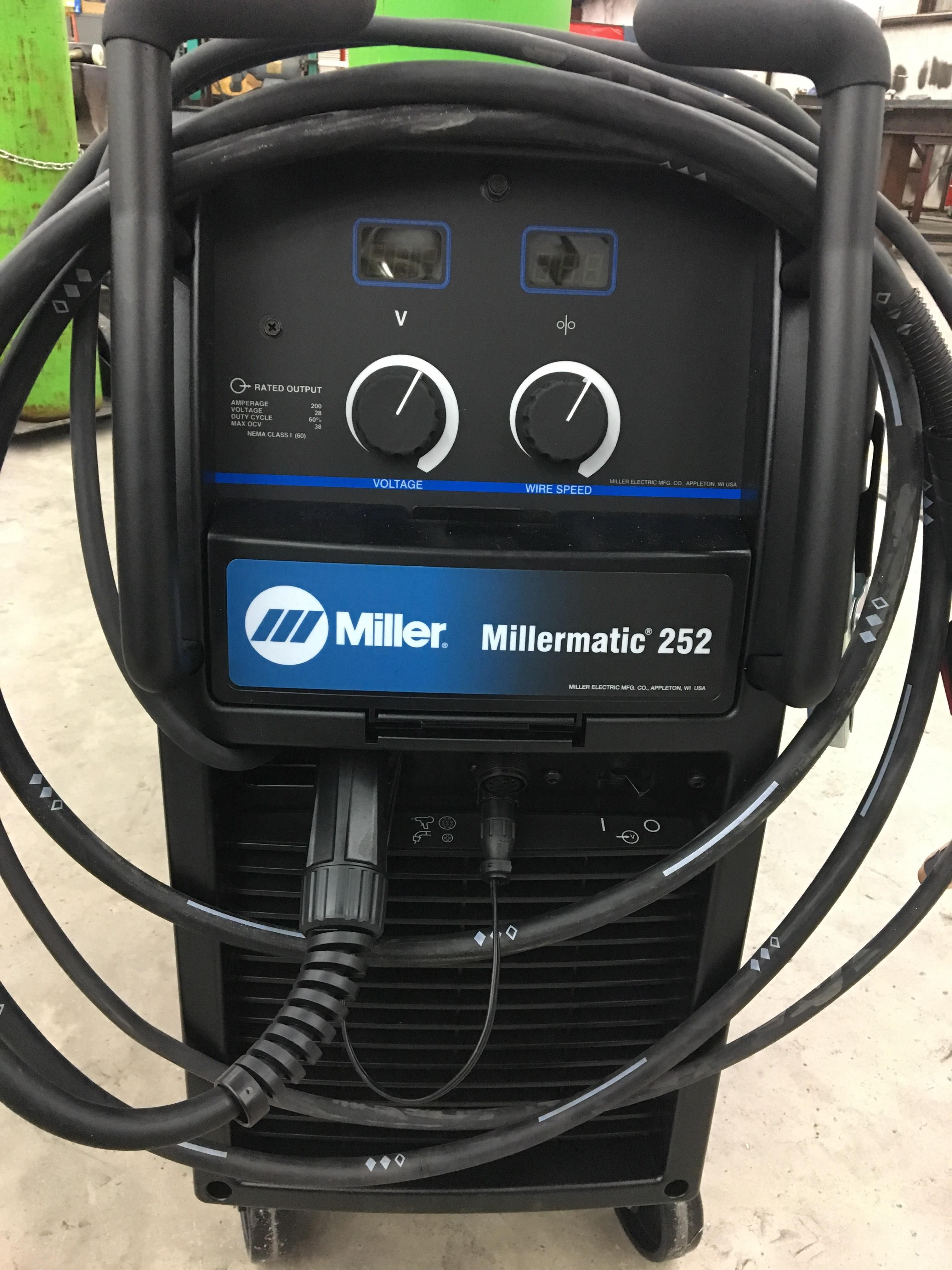 The shop bought a new Miller 252 I set it up so I was the first to ...