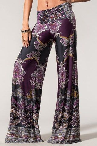 New Womens Plus Size Palazzo Trousers Ladies Paisley Floral Print Wide Leg Pants