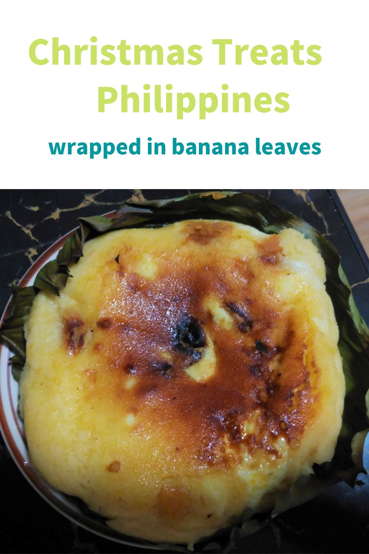 フィリピンのビビンカ 2021 キャッサバケーキ バナナの葉 美味しい