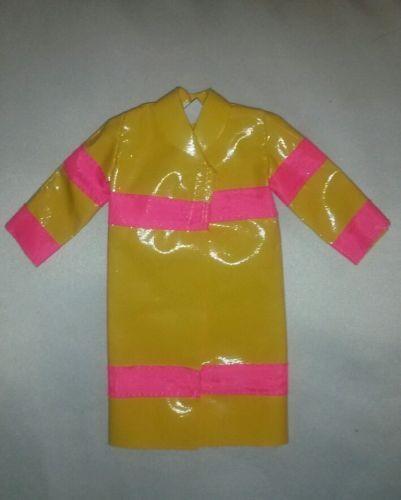 1963 Vintage Barbie Rain Coat #949 Yellow Rain Coat | What's it worth