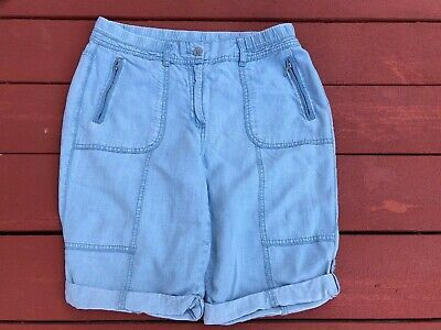 (Advertisement)eBay- Chicos Bermuda Shorts Light Blue Lyocell Cuffed Zip Pockets Womens Size 0.5 #lightblueshorts