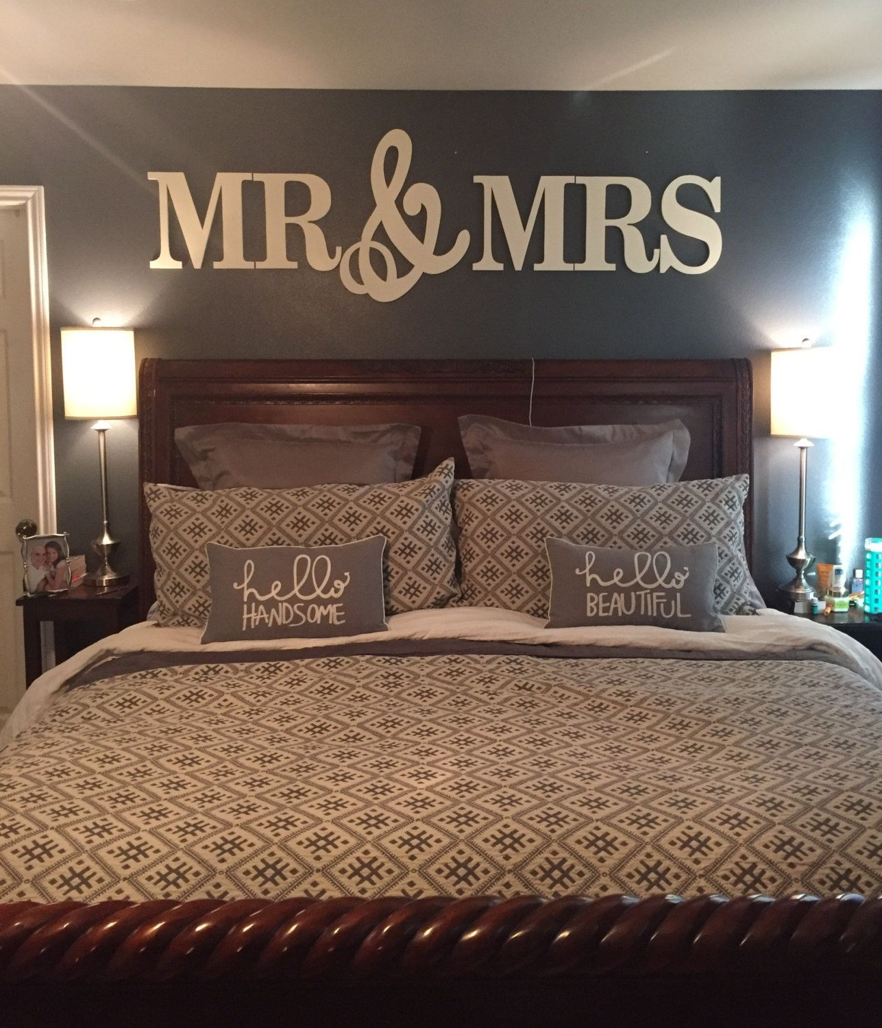 Mr Mrs Wall Letters Wedding Wall Decor Painted Wood Letters
