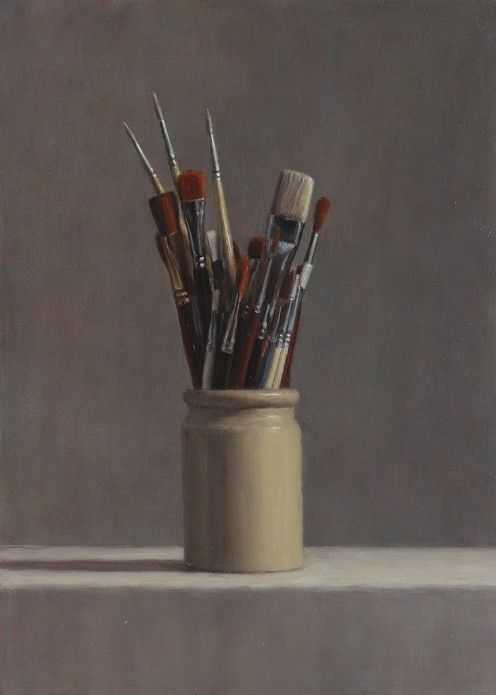 Long Brushes - Oil on panel, 2012, 30 x 18 Harry Holland