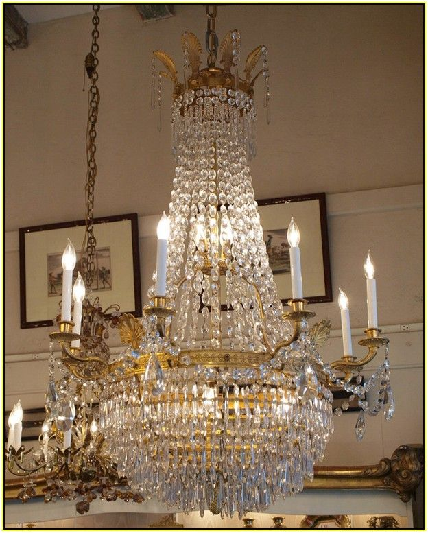 Antique French Empire Crystal Chandelier - Antique French Empire Crystal Chandelier Chandeliers Pinterest