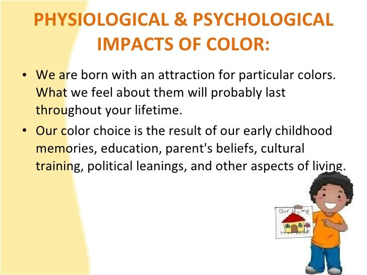Colour psychology: child and the different colours #Children, like ...