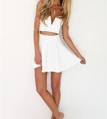 7629caddfc9 Vestidos de falda larga y blusa corta – Mini vestidos