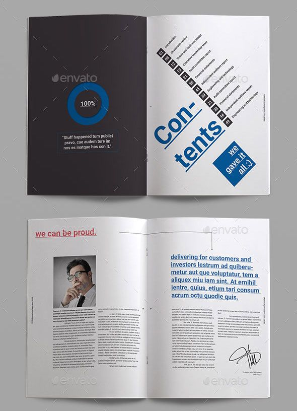 40 Best Corporate InDesign Annual Report Templates | Annual ...