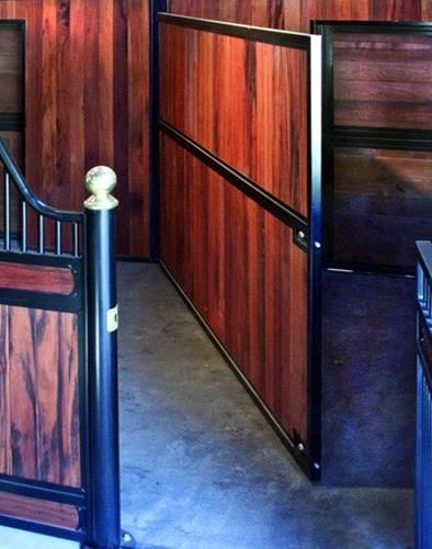Classic divider with full wood fill available online at Barn Pros
