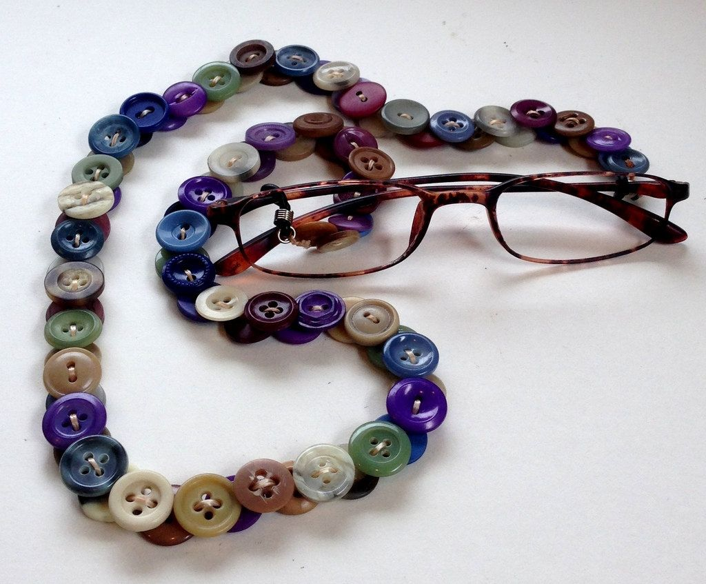 Eyeglasses Leash in Vintage Buttons - Multi Colors by MRSButtons on Etsy