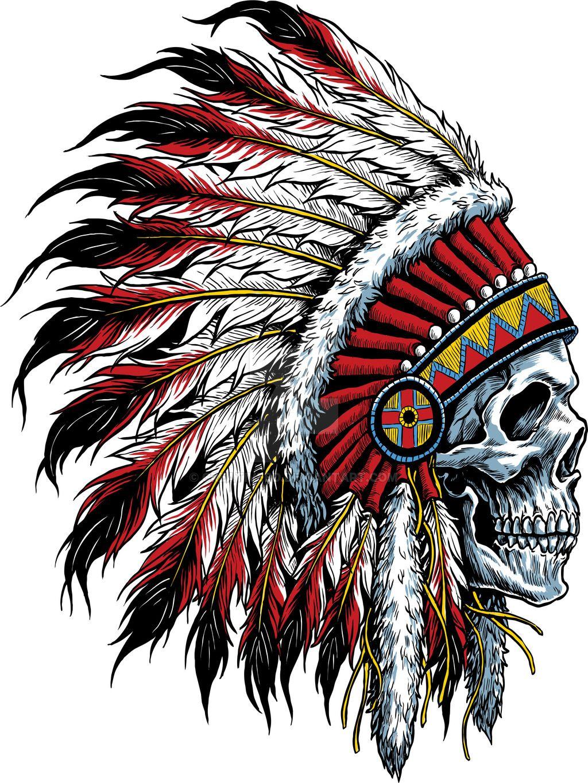 Indian Skull By Creativebddeviantartcom On At Deviantart Skulls