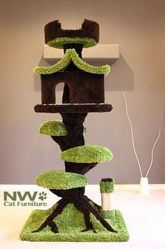Cat Climbing Tree, Cute Idea, Though Youu0027d Probably Need A Super Reinforced  One For My Cats.