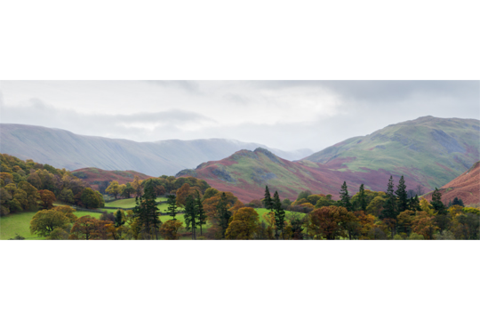 Mountain Panorama from Ullswater, The Lake District #photography #gift #canvas #landscape #nature
