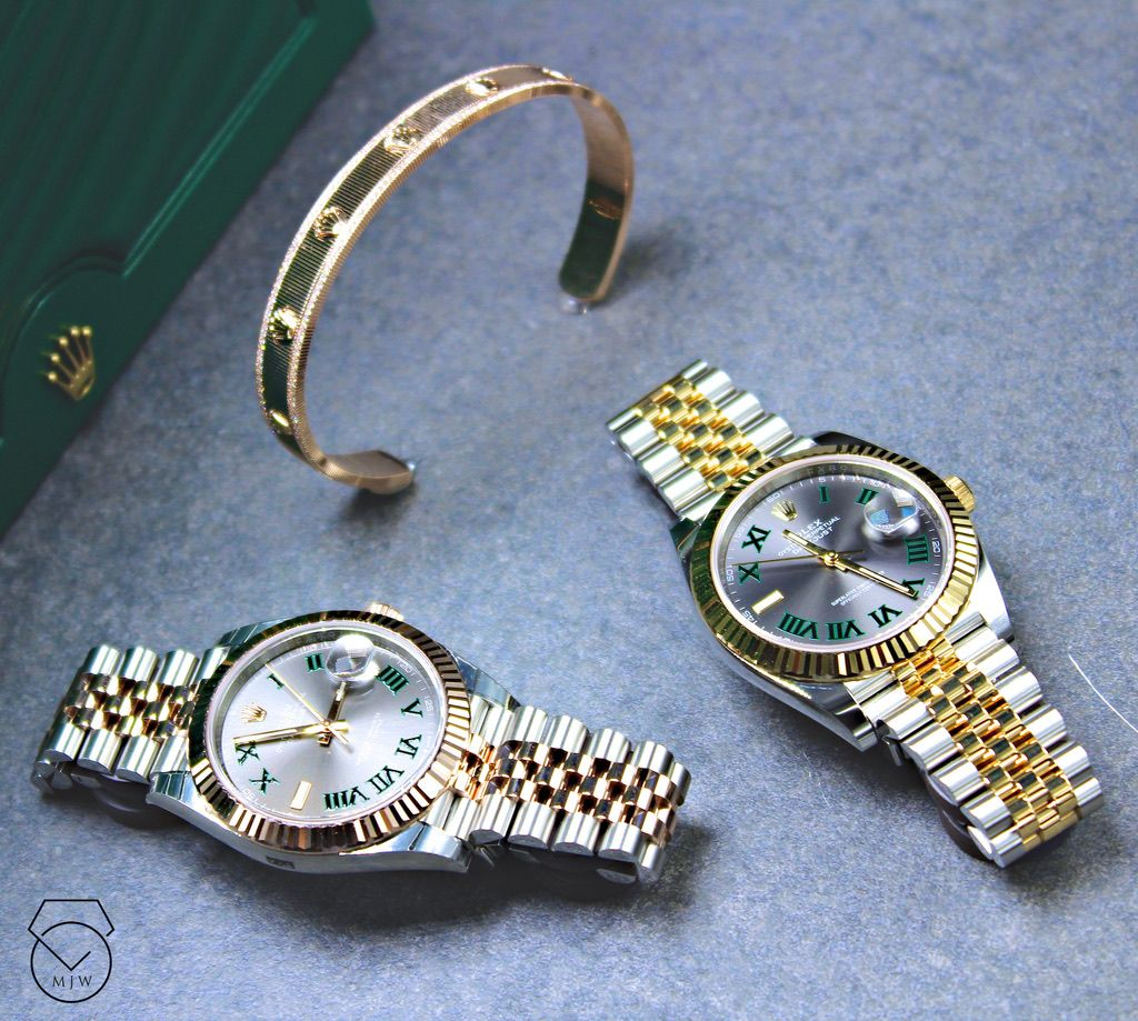 Rolex Datejust Oystersteel Yellow Gold Everose Gold 41 Mm Bezel Fluted Mjwdtla Rolex Luxury Watch Watches Guc Rolex Rolex Watches For Men Rolex Watches