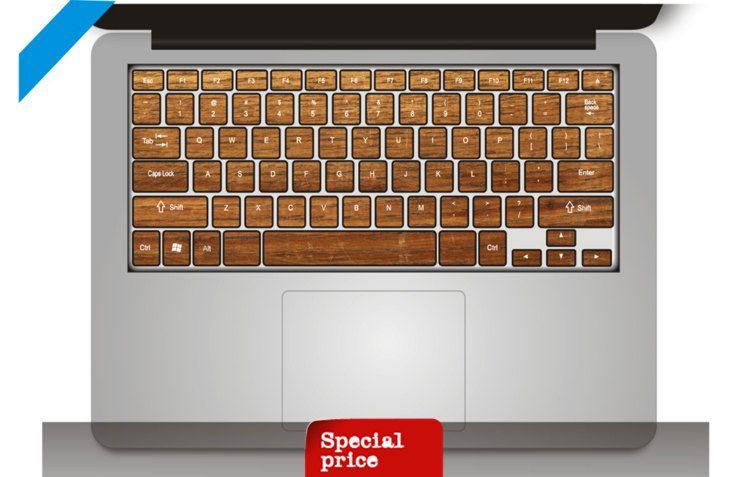 Wood pattern Keyboard Sticker mac decal mac book mac book