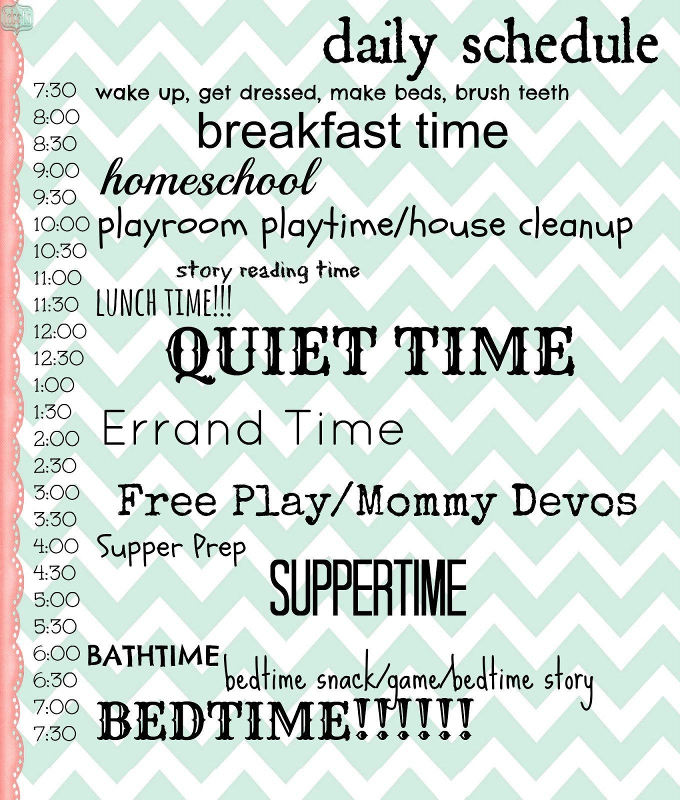 3littlerascals: Time for an update! | SAHM - daily routines ...