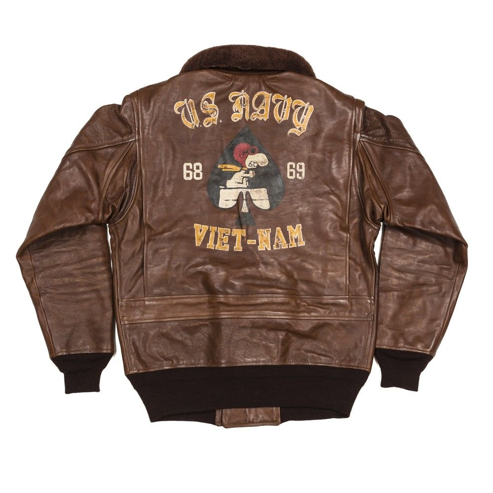 SNOOPY FLIGHT ACE US NAVY G1 FLIGHT JACKET TSTPR