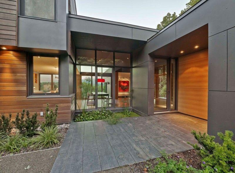 James hardie siding panels cedar longboard tiny house for Modern house exterior materials