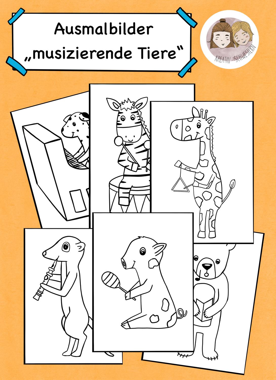 Musik Grundschule Ausmalbilder Ausmalbilder Tiere Machen Musik Unterrichtsmaterial In Den Fachern Kunst Musik In 2020 Ausmalen Ausmalbilder Ausmalbilder Tiere