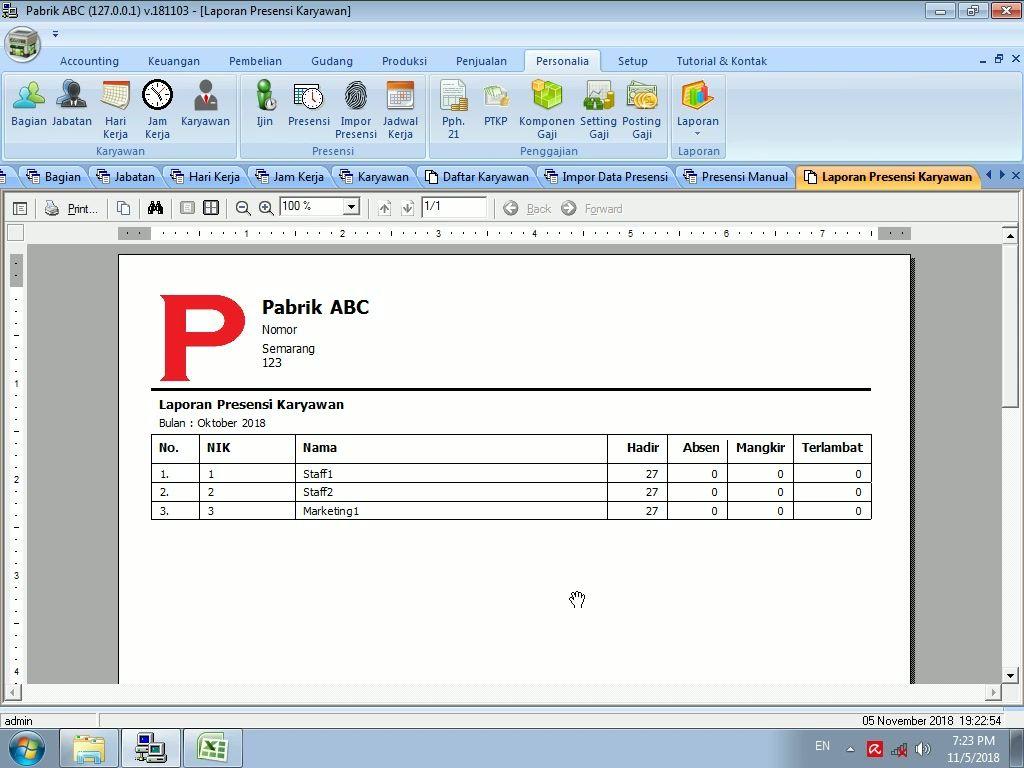 Tutorial Impor Data Presensi Karyawan Dari Excel Pada Software Pabrik Gratis Software Data Excel