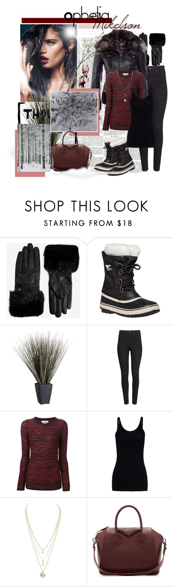 """""""Norse Gods VI"""" by psychoticbitch on Polyvore featuring moda, Ted Baker, SOREL, Crate and Barrel, H&M, Isabel Marant, T By Alexander Wang y Givenchy"""
