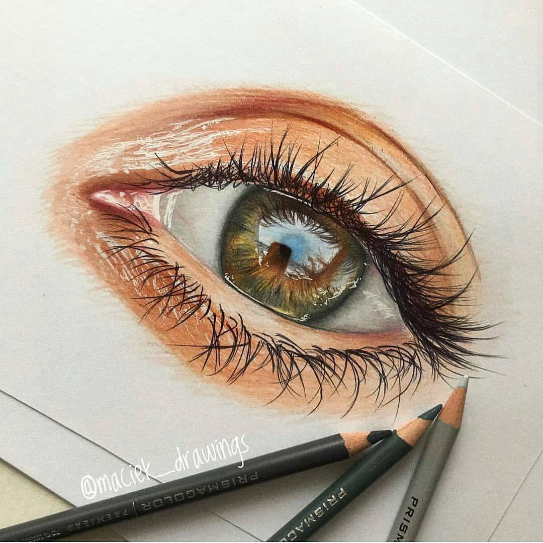 Hazel eye colored pencils eyes in 2019 drawings eye art