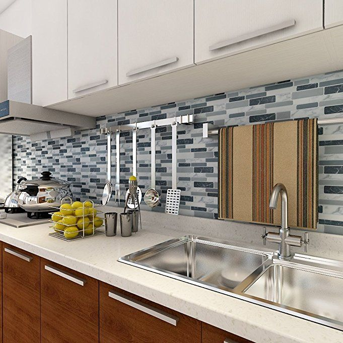Amazon.com: Art3d Peel and Stick Wall Tile for Kitchen ...