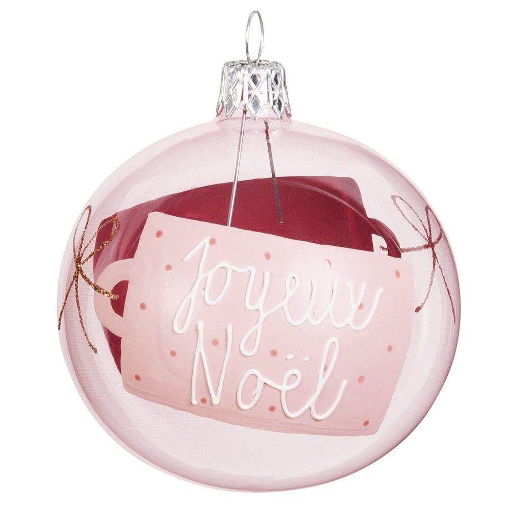 Pink Christmas Bauble Blush Maisons Du Monde