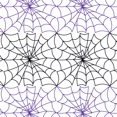Spider Web Digital Quilts Complete Continuous Line Quilting