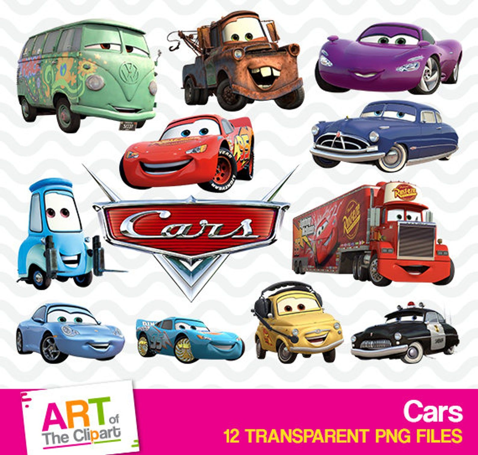 Cars Clipart High Resolution Disney Cars Images Cars Etsy