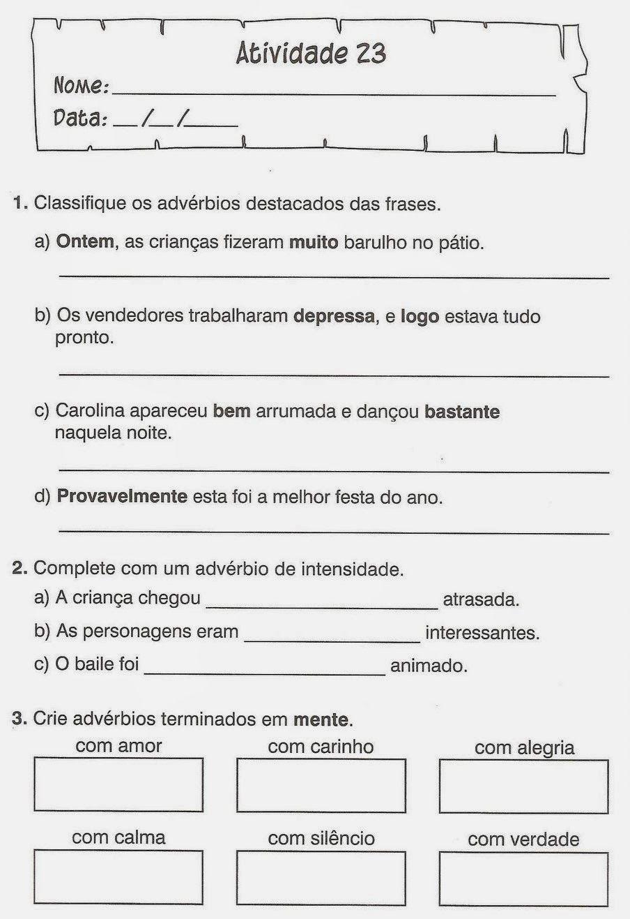 Resultado De Imagem Para Atividades De Portugues Para 4º E 5º