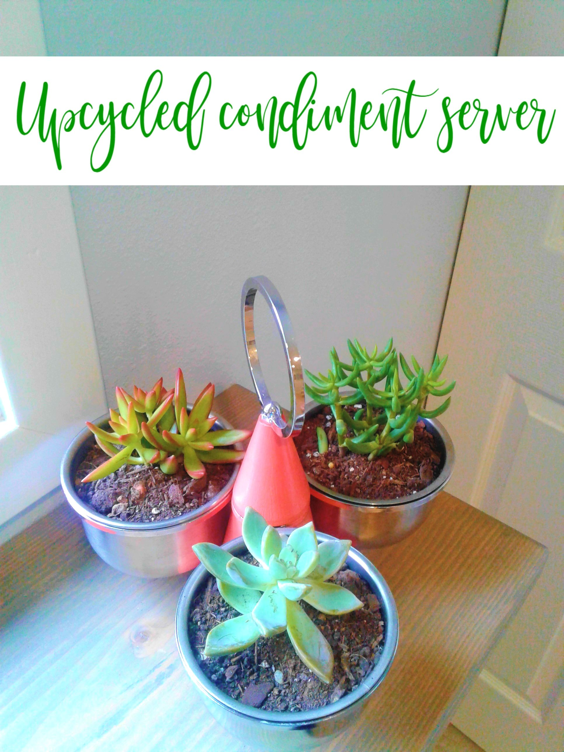 Upcycle A Condiment Server Into A Mini Garden This Would